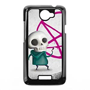 HTC One X Cell Phone Case Black SKULL A VIU186686