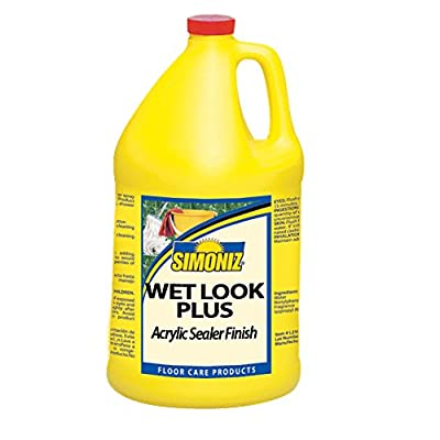 Simoniz CS0750004 Wet Look Plus Acrylic Polymer Floor Sealer and Finish, 1 gal Bottles per Case (Pack of 4)
