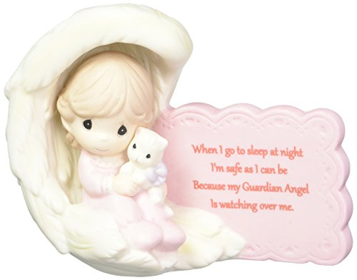 - Precious Moments 152008 My Guardian Angel Girl Bisque Porcelain Figurine