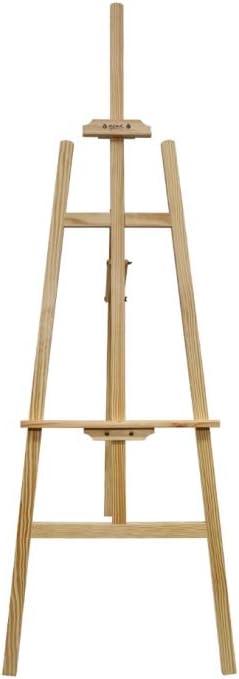 Perfetto per Atelier Cavalletto in legno ideale per tele fino a 100 cm Altezza 122 cm Esposizioni ed Eventi Mont Marte Cavalletto Pittura Pineta
