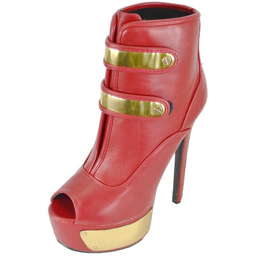 Ankle Cleopatra 07 Women's Cleopatra Red Diva Boots Women's Diva YxxZ7q1