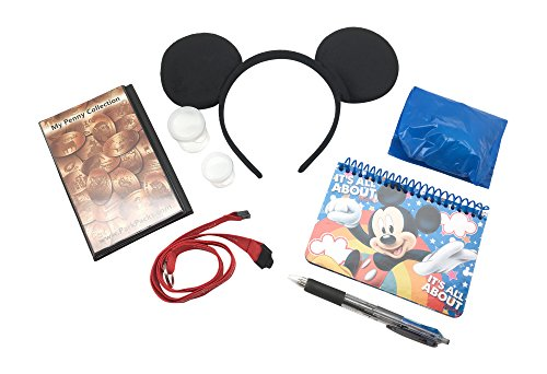 Mickey Disney Vacation Set Mouse Ears Headband Official Autograph Book & Pen - Walt Disney World Ears