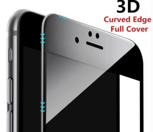 ikazen Curved Edge 5D Full Screen Tempered Glass Screen Protector for  iPhone 6 / 6s - Black