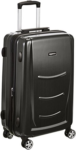 - AmazonBasics Hard Shell Carry On Spinner Suitcase Luggage - 24 Inch, Slate Grey