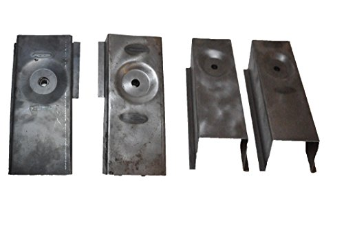 Body Mount Rear / Middle Set Tub Repair for Jeep Wrangler TJ 97-06 by Pocono Metal Craft (Mount Rear Repair Part)