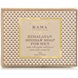 Kama Ayurveda Himalayan Deodar Soap for Men with Organic Cold Pressed Extra Virgin Coconut Oil, 125g