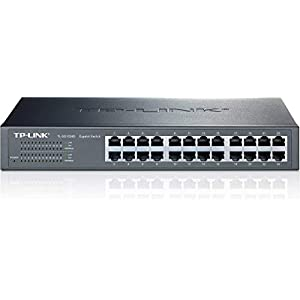 TP-Link TL-SG1024D 10/100/1000Mbps 24-Port Gigabit 13-inch Desktop/ Rackmountable Switch, 48Gbps Capacity