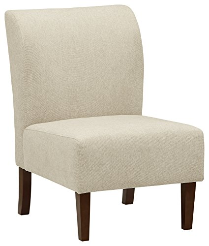 Stone & Beam Lummi Modern Armless Accent Chair, 21.6″W, Shell
