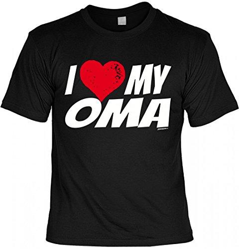 T-Shirt Grossmutter- I love my Oma - Geschenk Idee mit Humor zum Muttertag Omatag oder Geburtstag - schwarz