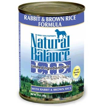 Natural Balance Limited Ingredient Diets Rabbit & Brown Rice Dog Food 13oz can