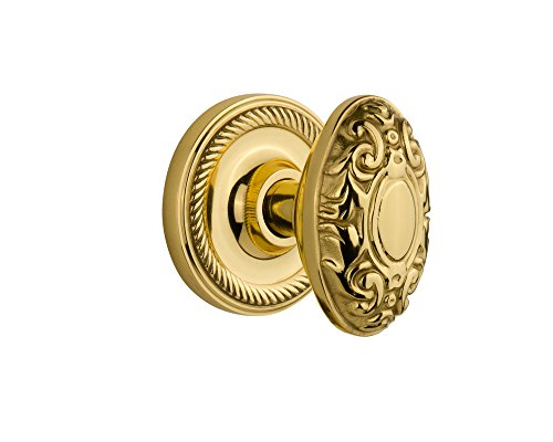 (Nostalgic Warehouse Rope Rosette with Victorian Knob, Privacy - 2.75