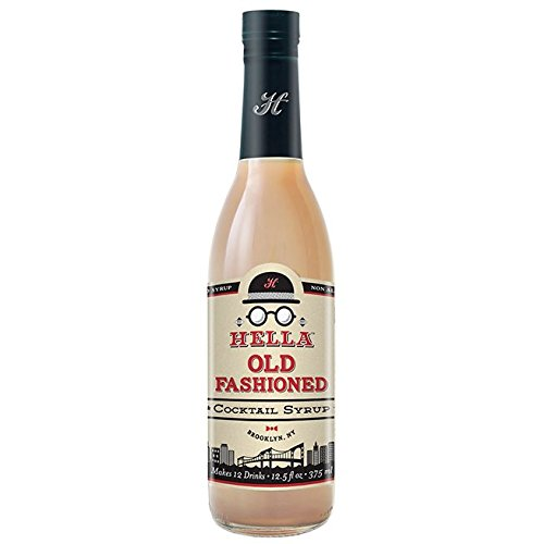 Hella Cocktail Co. | Old Fashioned Syrup, 12.5 oz | All Natural Cocktail Syrup for Mixing a Perfectly Balanced Old Fashioned Cocktail  - Made with Real Aromatic Bitters (Club Soda Or Sparkling Water For Mojitos)