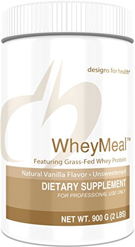 Designs for Health 16g of Grass Fed Whey Protein Powder Vanilla - WheyMeal Vanilla (900g / 25 Servings) ()