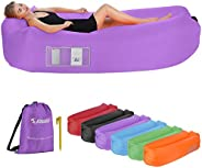 EDEUOEY Inflatable Lounger Air Sofa: Waterproof Beach Travel Outdoor Recliner Gift Filled Sleeping Accessories