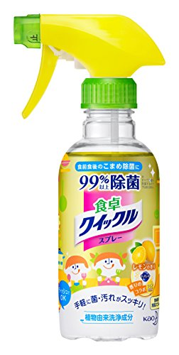 食卓クイックル リビング用洗剤 スプレー レモンの香り 本体 300ml
