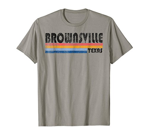 Vintage 1980s Style Brownsville Texas T-Shirt