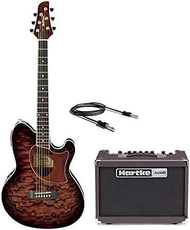 Ibanez tcm50 VBS Pack – guitarra Mujeres con Combo 50 W y Cable: Amazon.es: Instrumentos musicales