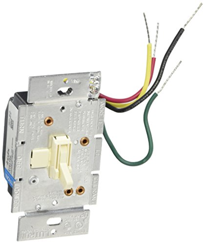 (Lutron Toggler Fan Control and Light Dimmer for Halogen and Incandescent Bulbs, AY2-LFSQ-AL, Almond)