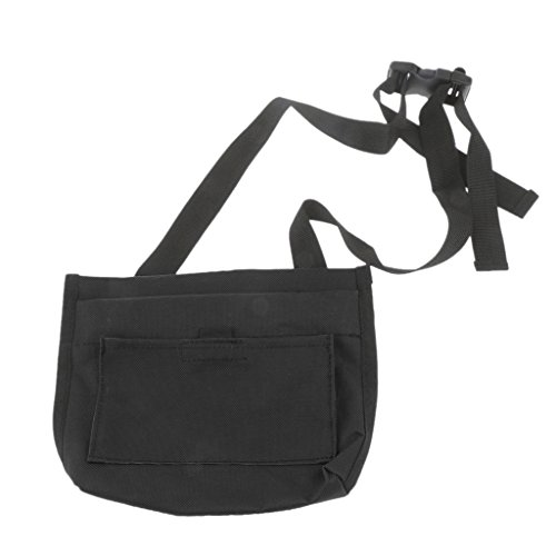 MagiDeal Pet Dog Treat Pouch Bait Food Bag with Belt Clip & Adjustable Strap & Training Clicker, 3 Colors Available - Black, 22.5x18cm by MagiDeal