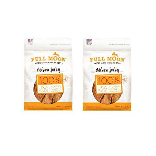 Full Moon Natural Human Grade Dog Treats, Chicken Jerky, 12 Ounce – 2 Pack