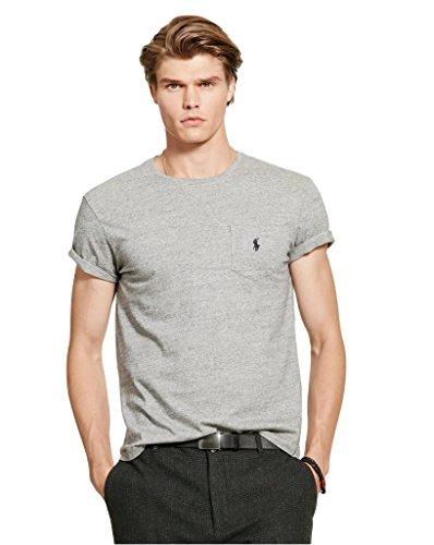 Polo Ralph Lauren Mens Classic Pocket T-Shirt (L, Dark Vintage) (Pocket Polo Ralph Lauren)