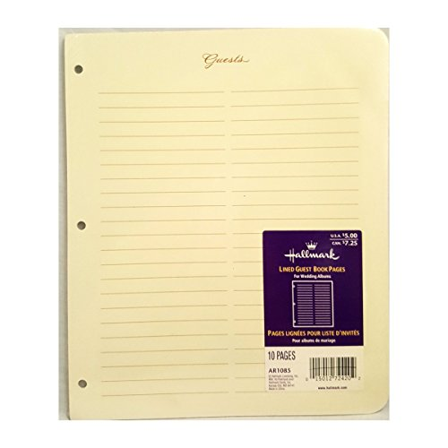 Hallmark Lines Guest Book Pages - Guest Book Refill