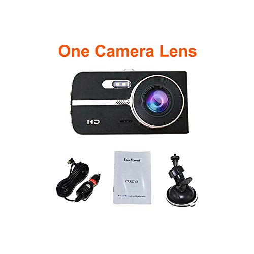 (Move Cc Car Dvr 4 Inch Fhd 1080P Camera Dual Lens Dash Cam Video Recorder Night Vision G-Sensor Auto Registrator Dashcam,No Rear Camara Lens,with 16G Card)