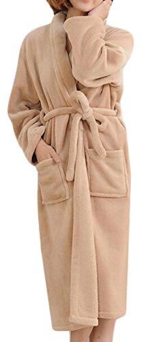 xqs-womens-super-soft-plush-fleece-spa-robe-bathrobe-khaki-xl