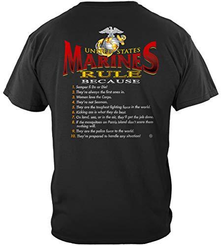 (USMC License Plate | Rules Marines Shirt ADD52-RL2002XXL)