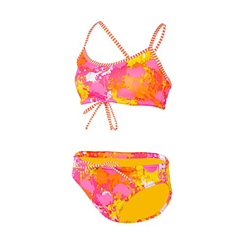 Dolfin Uglies Workout Two Piece Swimsuit Womens Orange/Pink Extra Small ()