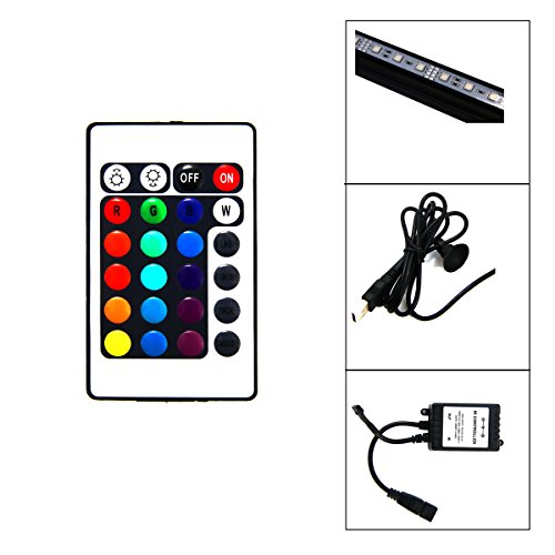 Xcellent-Global-18-Inch-27-RGB-LED-Multi-color-Remote-Underwater-Submersible-Aquarium-LED-Light-Air-Pump-Bubble-Light-Strip-Bar-Flood-Light-Strip-Airstone-for-Fish-Tank-LD063S