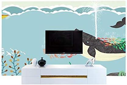 YWYWYWYW Anti-Pintado A Mano De Dibujos Animados Mundo Subacuático Grande Mural En 3D Sofá De La Habitación De Los Niños Decoración Del Hogar Papel Tapiz De Fondo De Pantalla De Tv Cubierta