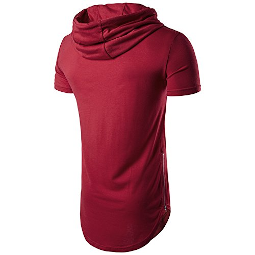 Felpa Felpa Magliette con con Rosso Puro Hipster Ragazza Coulisse Abbigliamento Sportivo Uomo Casual Maniche Shirt Felpe Corte Colore HX Chic Hoodie fashion Estate T Zip Cappuccio 5EwxCxH8q