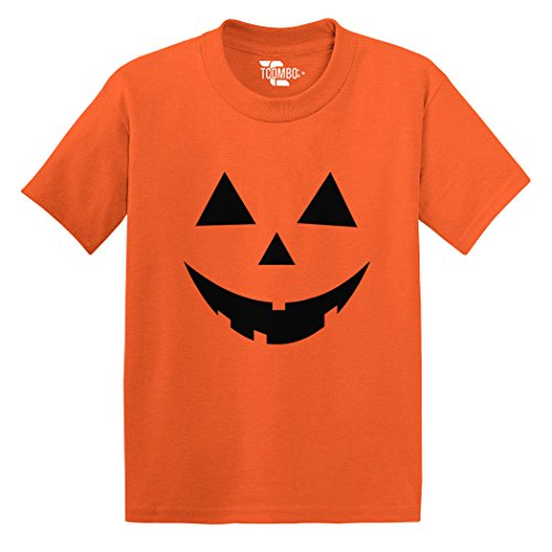 Halloween Shirts For Toddlers - Pumpkin Face - Halloween Toddler/Infant T-shirt (Orange, 3T)