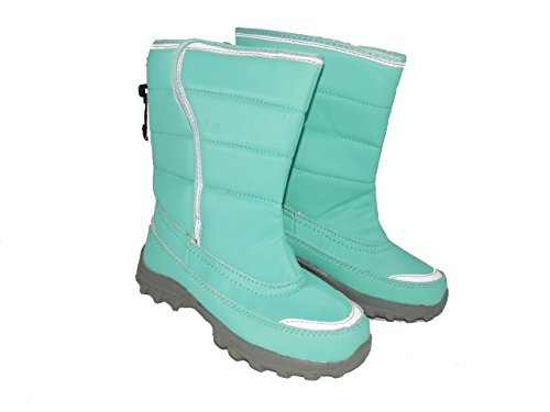 Price comparison product image Cold Front Clipper Boys Girls Warm Winter Snow Boots (5, Aqua)