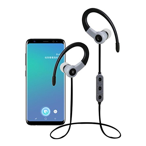Price comparison product image GBSELL Wireless V4.2 Sport Stereo In-Ear Sweatproof Headsets Headphones for iPhone Samsung ZTE Zmax Pro Z981 (Black)