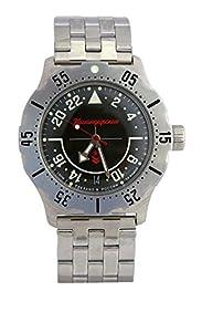 Vostok Komandirskie K-35 Russian Military Watch Black 2431 / 350617