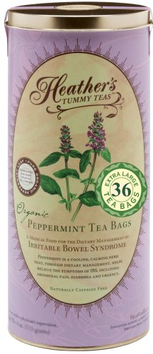 Heather's Tummy Teas Organic Peppermint Tea Bags, 4.2 oz (36 Jumbo Teabags) for IBS (Tummy Tea Mint)