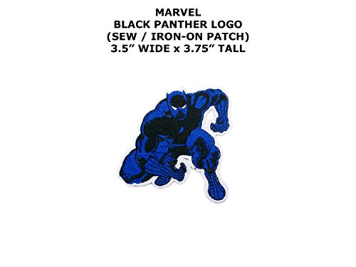 Diy Panther Costume (Marvel Comics Black Panther Super Hero DIY Embroidered Sew or Iron-on Applique Patch Outlander Gear)
