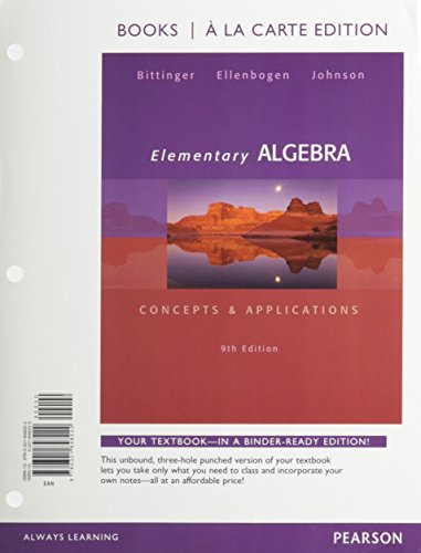 Elementary Algebra: Concepts and Applications, Books a la Carte Plus NEW MyLab Math with Pearson eText -- Access Card Pa