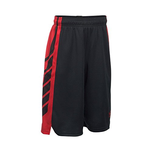 9077f8540 Under Armour Boys' Select Basketball Shorts, Black/Red, Youth Large