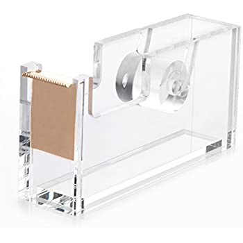 HBlife Acrylic Gold Tape Dispenser (4.7 X 1.3 X 2.4 Inches), Modern Design