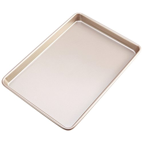 CHEFMADE Non-stick Bakeware 17 Inch Heavy-duty Baker's Cookie Sheet , FDA Approved, Oven Roasting Meat Bread Baking Jelly Roll Pan Cupcake Tray 12