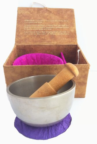 Tibetan Singing Bowl in Handmade Paper Ganesh Gift Box with Gift Card