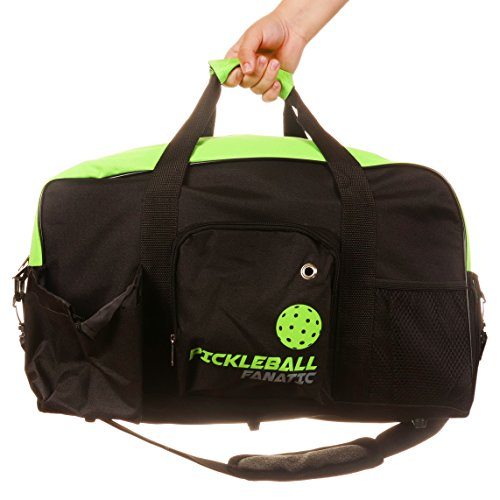 Pickleball Fanatic Duffel Bag (Green/Black)
