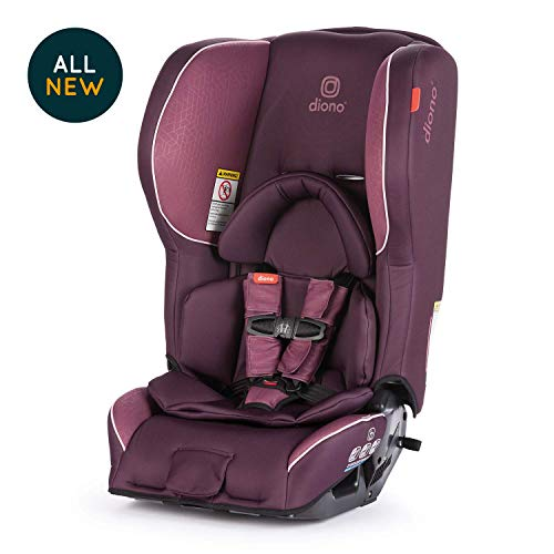 Diono Rainier 2AX Convertible Car Seat, for Children from Birth to 65 Pounds, Plum