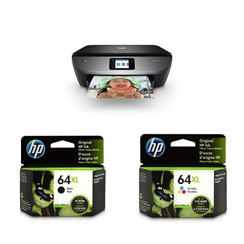 Price comparison product image HP ENVY Photo 7155 All in One Photo Printer with Wireless Printing, Instant Ink ready (K7G93A) with XL High Yield Ink Cartridges Bundle