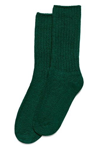 Hue Womens Ribbed Boot Socks, Deep Forest, One (Forest Ribbed)