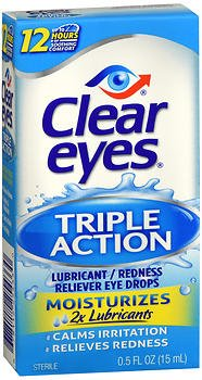 Clear Eyes Lubricant Redness Reliever Eye Drops, 0.5 Oz (15 Ml) (Pack of 3)