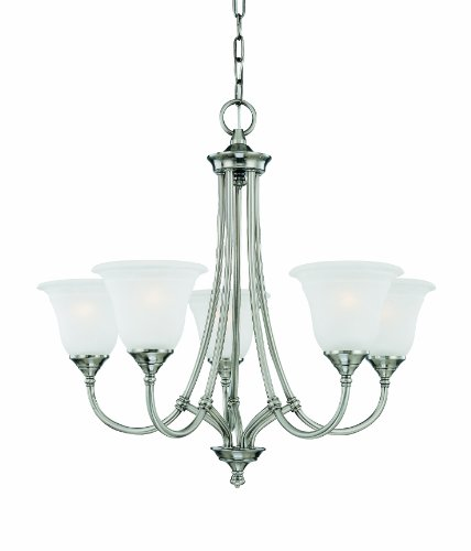 Thomas Lighting SL8801-41 Harmony 5-Light Satin Pewter Chandelier, 26 L X 26 W X 24 H,